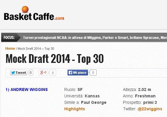 Mock Draft 2014