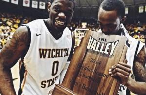 Wichita State celebra il titolo della MVC - Copyright Twitter GoShockers