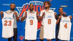 Nuovi New York Knicks - © 2015 twitter.com/NBAcom