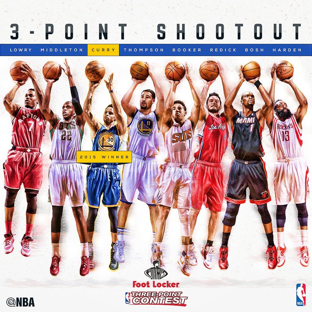 Three Point Contest - © 2016 twitter/NBAAllStar