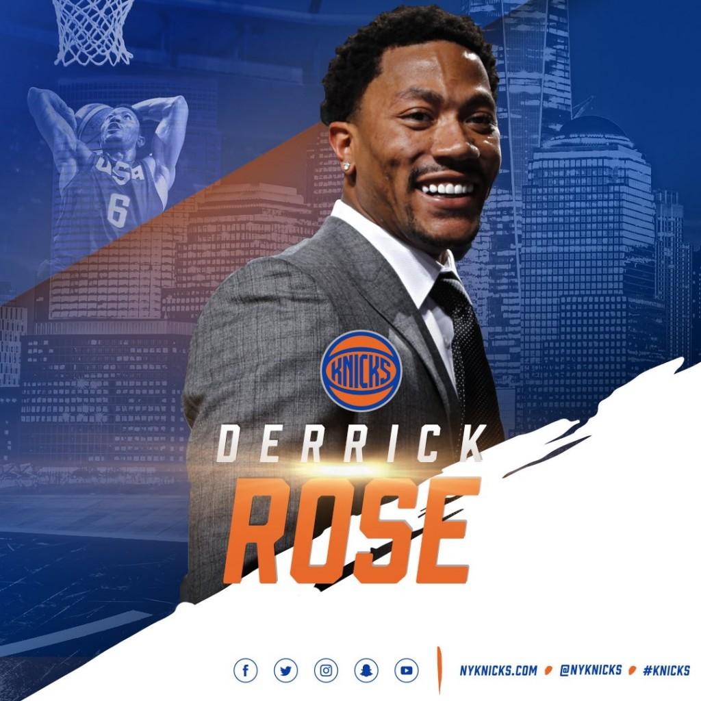 Derrick Rose ai Knicks - © 2016 twitter.com/NYKnicks