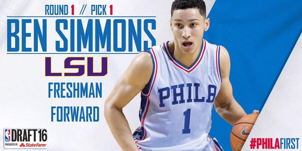 Ben Simmons n.1 al Draft 2016 - © 2016 twitter.com/Sixers