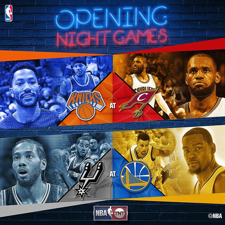 NBA Opening Night 2016-17 - © 2016 twitter.com/NBAonTNT