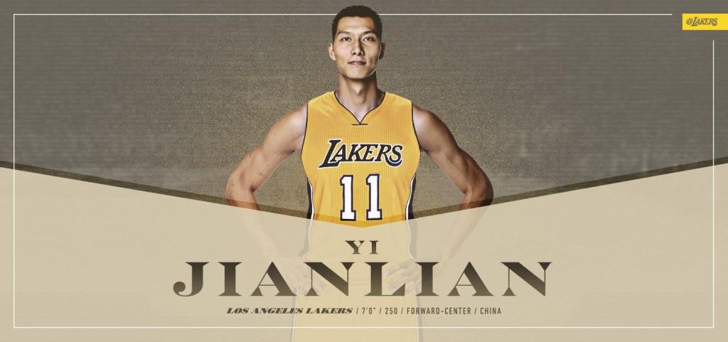 Yi Jianlian ai Lakers - © 2016 twitter.com/Lakers