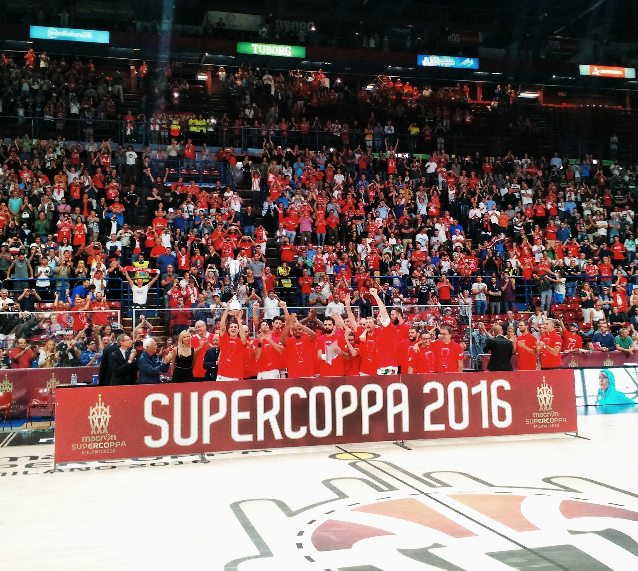 L'Olimpia Milano conquista la Supercoppa Italiana 2016