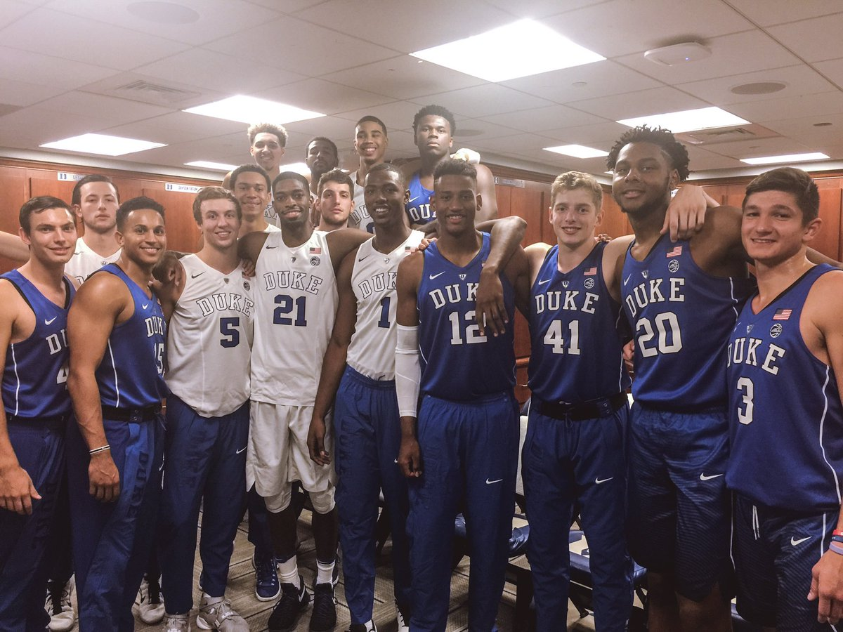 Duke 2016-17 - © 2016 twitter.com/Duke_MBB