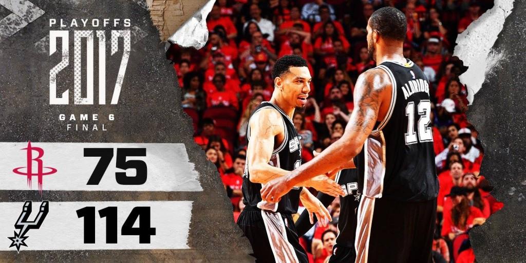 Rockets-Spurs gara 6 - © 2017 twitter.com/SportsCenter