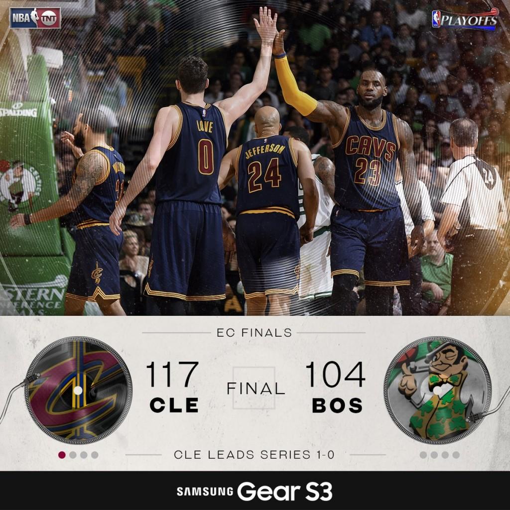 Celtics-Cavs gara 1 - © 2017 twitter.com/NBAonTNT