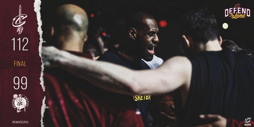 Cavaliers-Celtics gara 4 - © 2017 twitter.com/cavs