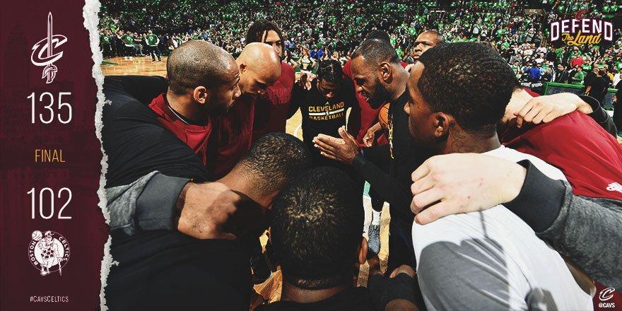 Celtics-Cavaliers gara 5 - © 2017 twitter.com/cavs