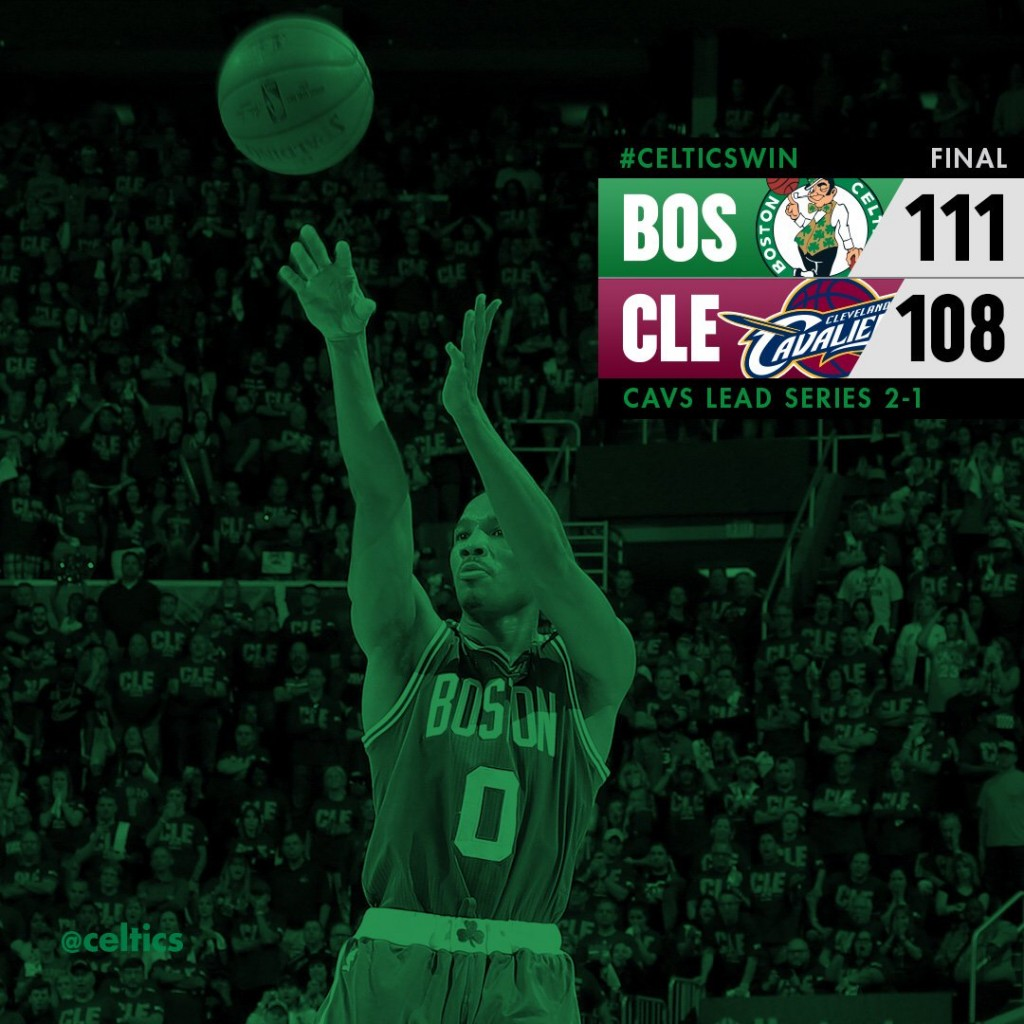 Cavs-Celtics gara 3 - © 2017 twitter.com/celtics