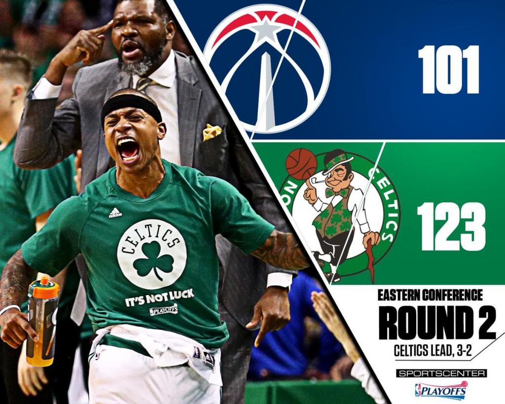 Celtics-Wizards gara 5 - © 2017 twitter.com/SportsCenter