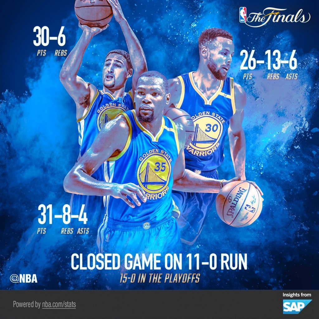Golden State Warriors, gara 3 - © 2017 twitter.com/nbastats