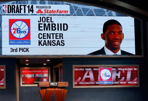 Joel Embiid_Sixers - © 2014 Twitter Philadelphia 76ers