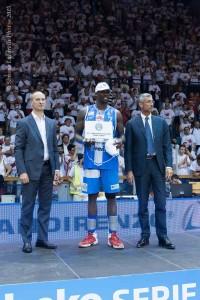 Sanders MVP delle Finali Scudetto © 2015 Simone Lucarelli Photos