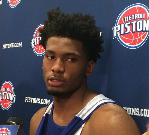 Workout Justise Winslow - © 2015 twitter.com/DetroitPistons